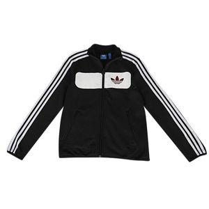 adidas Originals Street Driver Jacket   Boys Grade School   Casual   Clothing   Black/White/Hero Brown