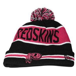 New Era NFL Breast Cancer Awareness Knit   Mens   Football   Accessories   Washington Redskins   Black/Pink