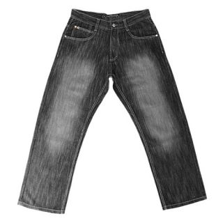 Southpole 4180 Shiny Streaky Denim Jeans   Mens   Casual   Clothing   Black Sand