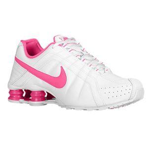 2cff898debd3 ... Nike Shox Junior Womens Running Shoes White Pink ...