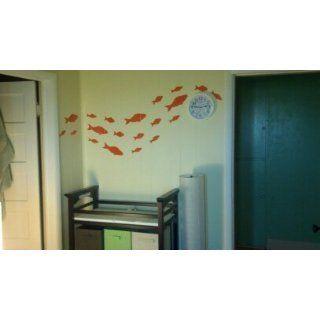 StikEez Black School of Fish 21 Pack Fun Sizes Wall & Window Decals   Wall Decor Stickers