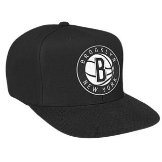 Mitchell & Ness NBA XL Logo Snapback   Mens   Basketball   Accessories   Brooklyn Nets   Black