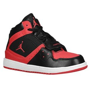 Jordan 1 Flight Strap   Girls Preschool   Basketball   Shoes   Black/Fusion Red