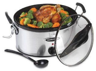 Hamilton Beach Stay or Go 6 Quart Slow Cooker in Stainless Steel Kitchen & Dining