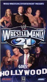 WWE: Wrestlemania 21   Goes To Hollywood [VHS]: Movies & TV