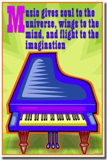Music Gives Soul to the Universe, Wings to the Mind and Flight to the Imagination   Music Poster : Prints : Everything Else