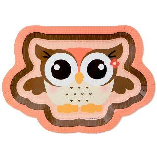 Owl Girl   Look Whooo's Having A Baby   Baby Shower Dinner Plates   8 ct: Toys & Games