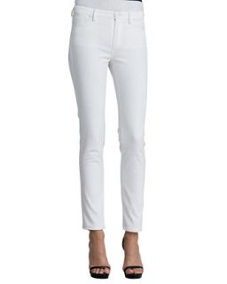 Womens Five Pocket Skinny Jeans, White   Oscar de la Renta   White (8)