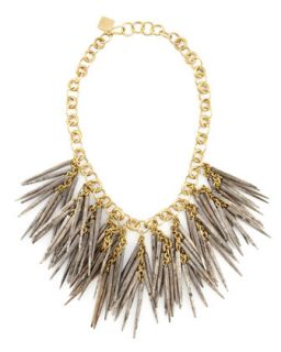 Grey Quill Bead Necklace   Ashley Pittman   Grey
