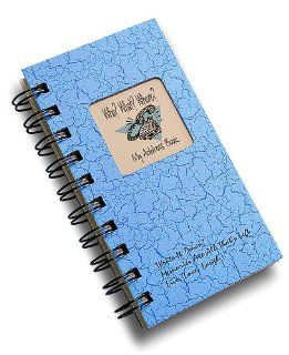 Who? What? Where?   My Address Book   MINI Lt Blue Hard Cover (prompts on every page, recycled paper, read more)   Wirebound Notebooks