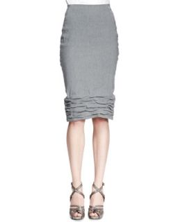 Womens Crush Bottom Skirt, Gray   Donna Karan   Greystone (8)