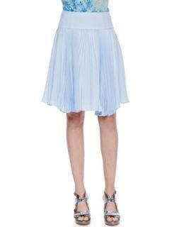 Womens Sunny Day Pleated Chiffon Skirt   Nanette Lepore   Chambray (0)