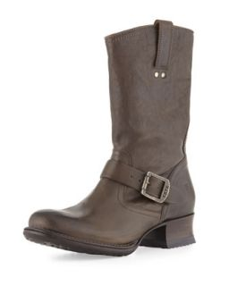 Martina Engineer Short Boot, Gray   Frye   Grey (35.5B/5.5B)