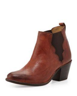 Jackie Gore Ankle Boot, Saddle   Frye   Saddle (38.0B/8.0B)