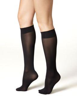 Womens Velvet de Luxe 50 Denier Knee High Socks   Wolford   Black (SMALL)