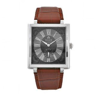 Milus Women's HER001 Herios Brown Leather Strap Roman Numerals Dial Watch Watches