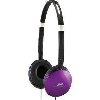JVC HAS150VX Light weight Flat Folding Headphone (Violet) (Discontinued by Manufacturer) Electronics