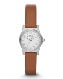 Henry Dinky Analog Watch with Leather Strap, Stainless/Tan   MARC by Marc