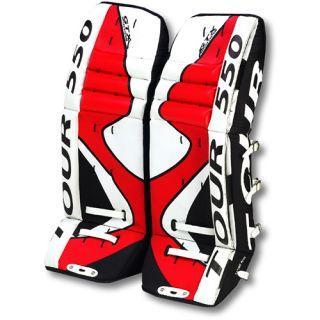 Tour TR 550 Senior Hockey Goalie Pads   Size: 32 Inches, Red/black/white