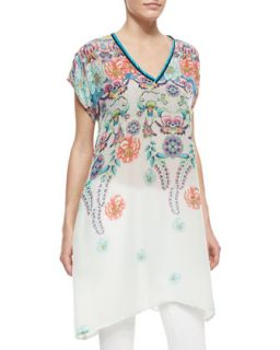 Womens Dasha Floral Print Georgette Tunic   Johnny Was Collection   Multi