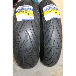 Michelin Pilot Road 3 Motorcycle Tire Sport/Touring Front 120/70 17: Automotive