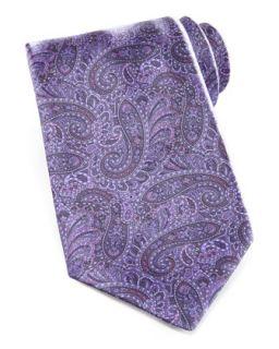 Mens Paisley Tie, Purple   Stefano Ricci   Lilac