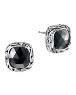 Batu Chain Hematite Stud Earrings   John Hardy   Silver