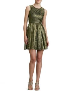 Womens Open Back Lace Cocktail Dress   Erin by Erin Fetherston   Gold & black