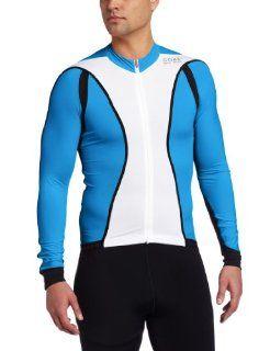 Gore Bike Wear Oxygen FZ Long Sleeve Jersey White/Splash Blue, XXL  Cycling Jerseys  Sports & Outdoors