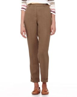 Womens Jari Galway Cuffed Ankle Pants   Loro Piana   Lizard (48/12)