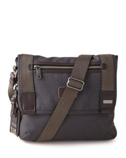 Mens Alpha Bravo Beale Mini Messenger Bag   Tumi   Antracite