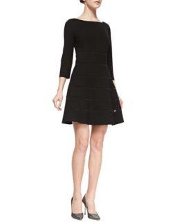 Womens Emma Paneled Ponte Dress, Black   Erin Fetherston   Black (10)