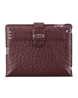 Mens Ostrich iPad 2 Case, Purple   Stefano Ricci   Purple