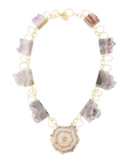Amethyst Stalactite 18k Vermeil Necklace   Devon Leigh   Purple (18k )