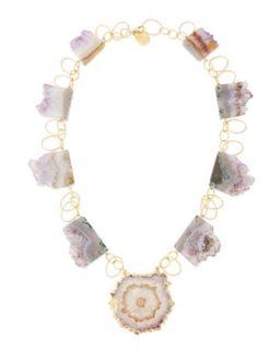 Amethyst Stalactite 18k Vermeil Necklace   Devon Leigh   Purple (18k )