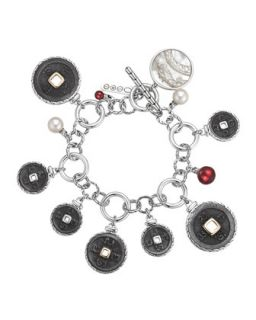 Batu Coin Charm Bracelet   John Hardy   Silver/Gold