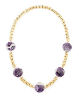 Amethyst Coin Necklace, Purple   Devon Leigh   Amethyst
