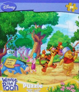 Disney Winnie the Pooh 24 Piece Jigsaw Puzzle (Hundred Acre Band) Toys & Games