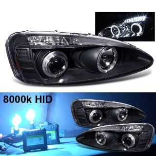 Eautolight 8000k Slim Xenon HID Kit+04 08 Grand Prix Halo LED Smoke Projector Head Lights: Automotive