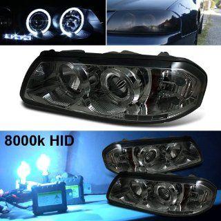 8000k Slim Xenon HID Kit+00 05 Chevy Impala Halo LED Smoke Projector Head Lights: Automotive