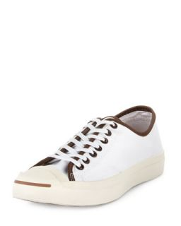 Mens Jack Purcell Low Profile Tortoise Sneaker, White   Converse   White (8