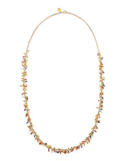 Long Delicate Seed Bead Necklace   Sequin   Multi gold (ONE SIZE)