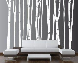 "Large Wall Birch Tree Decal Forest Kids Vinyl Sticker Removable (9 Trees) 108"" (9 Feet) Tall #1109   Childrens Wall Decor"