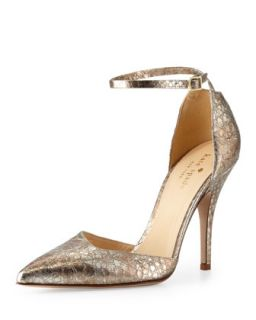liliana metallic snake print pump   kate spade new york   Gold (37.5B/7.5B)