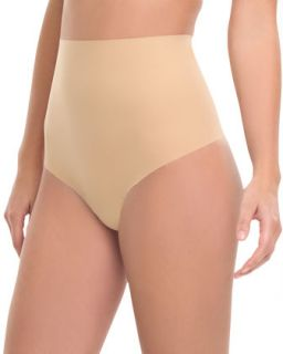 Womens High Waist Control Thong, Nude   Commando   True nude (S (4 6))