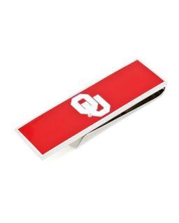 Mens OU Sooners Gameday Money Clip   Cufflinks   Red