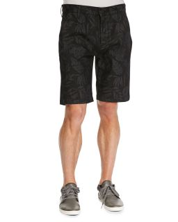 Mens Laser Floral Chino Shorts, Black   7 For All Mankind   Black multi (30)