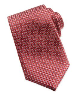 Mens Mix Square Pattern Silk Tie, Red   Brioni   Red