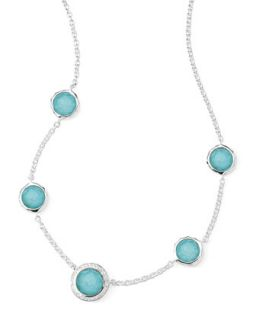 Stella Necklace in Turquoise Doublet & Diamonds 16 18   Ippolita   Gray