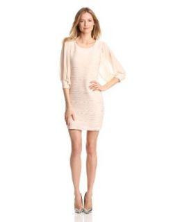 Gabby Skye Women's Sheer Long Sleeve Dress, Beige, 14 Missy at  Women�s Clothing store
